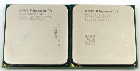 Phenom II X4 810 en X4 720