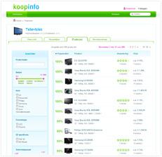 Koopinfo productlijst