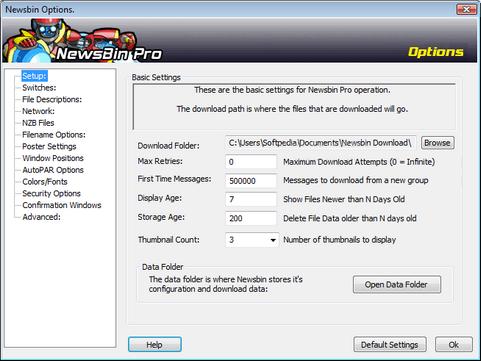 NewsBin Pro screenshot (481 pix)