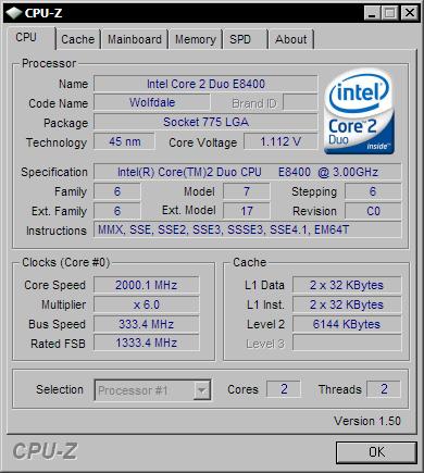 CPU-Z 1.50
