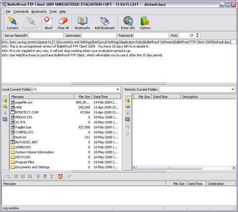 BulletProof FTP screenshot (481 pix)