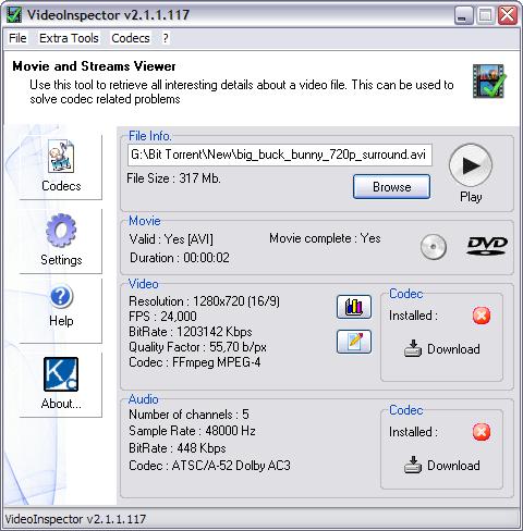 VideoInspector 2.1.1.117 screenshot