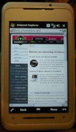 T.net in de browser van Toshiba-smartphone