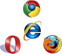 Opera, Firefox & Chrome vs. Internet Explorer