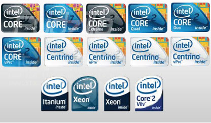 Nieuwe Intel-logo's