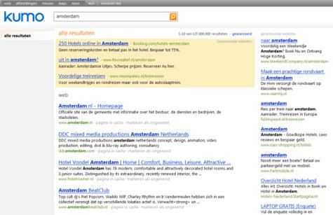 Kumo.com screenshot