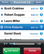 visual voicemail op de iPhone