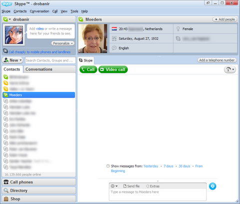Skype for Windows 4.0 screenshot (481 pix)