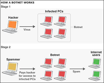 Schema van botnet