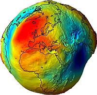 'Geoide': model van zwaartekrachtverschillen van de aarde