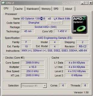 Phenom II X4 955 op 4,0GHz