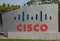 Cisco-logo bij gebouw