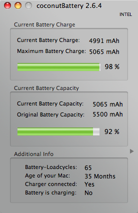 coconutBattery 2.6.4