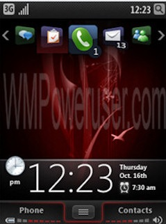 Screenshot van mogelijk Windows Mobile 7