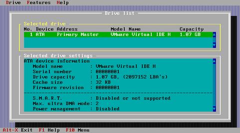 IBM - Hitachi Feature Tool 2.13 screenshot (481 pix)