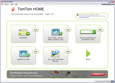 TomTom Home 2.6 screenshot (481 pix)