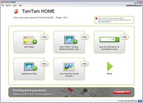 TomTom Home 2.6 screenshot (481 pix)