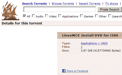 The Pirate Bay met Facebook