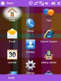 Windows Mobile 6.5 met roze thema