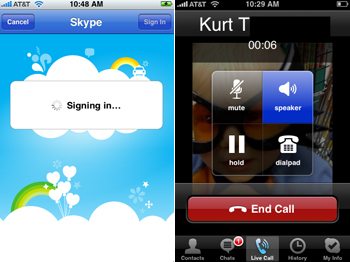 Skype op iPhone
