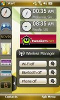 Samsung Touchwiz-interface met widgets