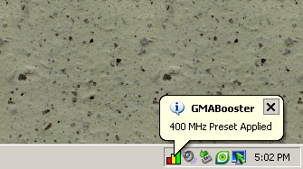 GMABooster in system tray