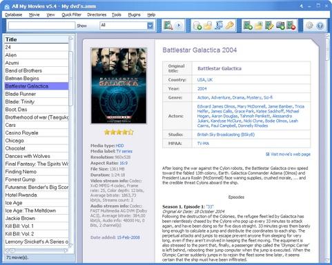 All My Movies 5.4 screenshot (481 pix)