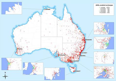 Breedbandpenetratie Australie