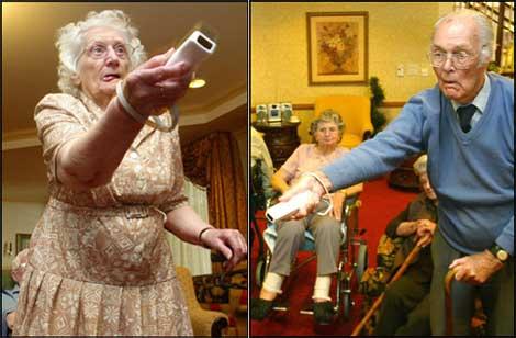 Bejaarden spelen met Wii