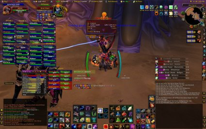 World of Warcraft met diverse add-ons