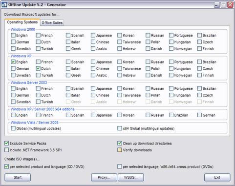 c't Offline Update 5.2 screenshot (481 pix)