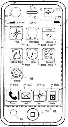 Interface van iPhone bij heftige beweging