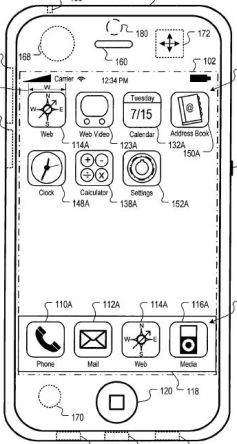 Interface van iPhone in rust