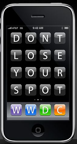 Apple iPhone: don't lose your spot