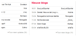Devplan april 2009: Tweakblogs home uitklapper