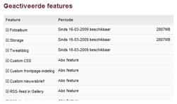 Devplan april 2009: Karmastore geactiveerde features