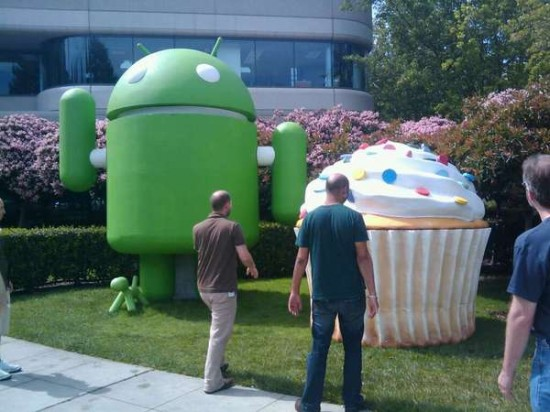 Cupcake bij Google-hoofdkantoor