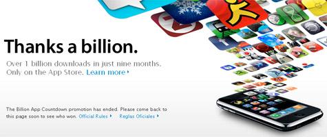 App Store miljard downloads