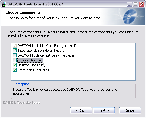 Daemon Tools 4.30.4 screenshot