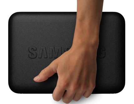 Samsung N310 met hand