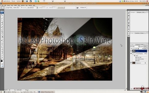 Adobe Photoshop CS3 onder Wine