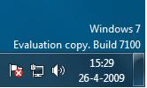 Windows 7 RC, build 7100
