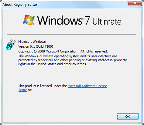 Windows 7 Build 7100
