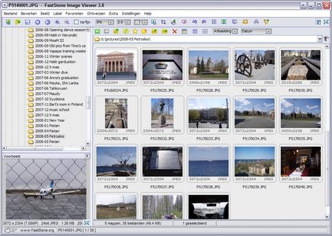 FastStone Image Viewer 3.8 screenshot (481 pix)