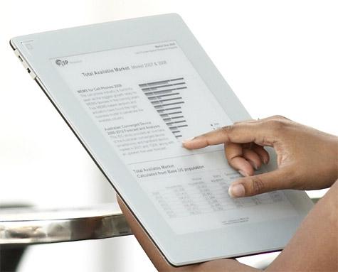 Plastic Logic e-reader A4-formaat