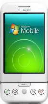 Mockup T-Mobile G1 met Windows Mobile