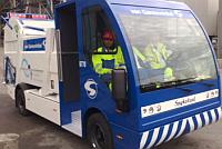 elektrische Spijkstaal-vuilniswagen van Van Gansewinkel