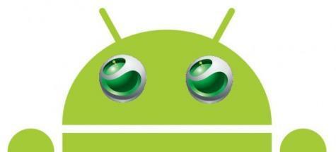 Mockup logo's Sony Ericsson en Android