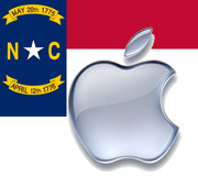 North Carollina Apple logo's