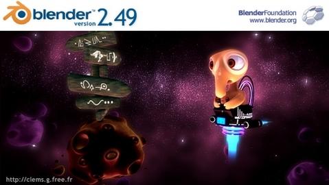 Blender 2.49 splashscreen (481 pix)